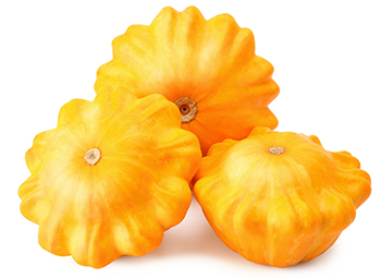Yellow Squash on a white background